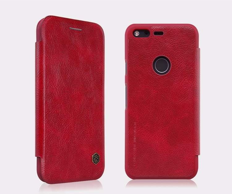 For Google Pixel XL Nillkin Qin Series Cell Phone Leather Cases For Google Pixel XL Luxury Wallet Business Style Flip Case