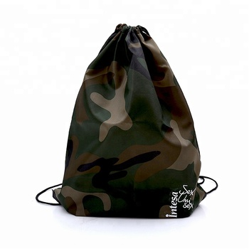 Custom camouflage drawstring bag for traveling or mountaineer
