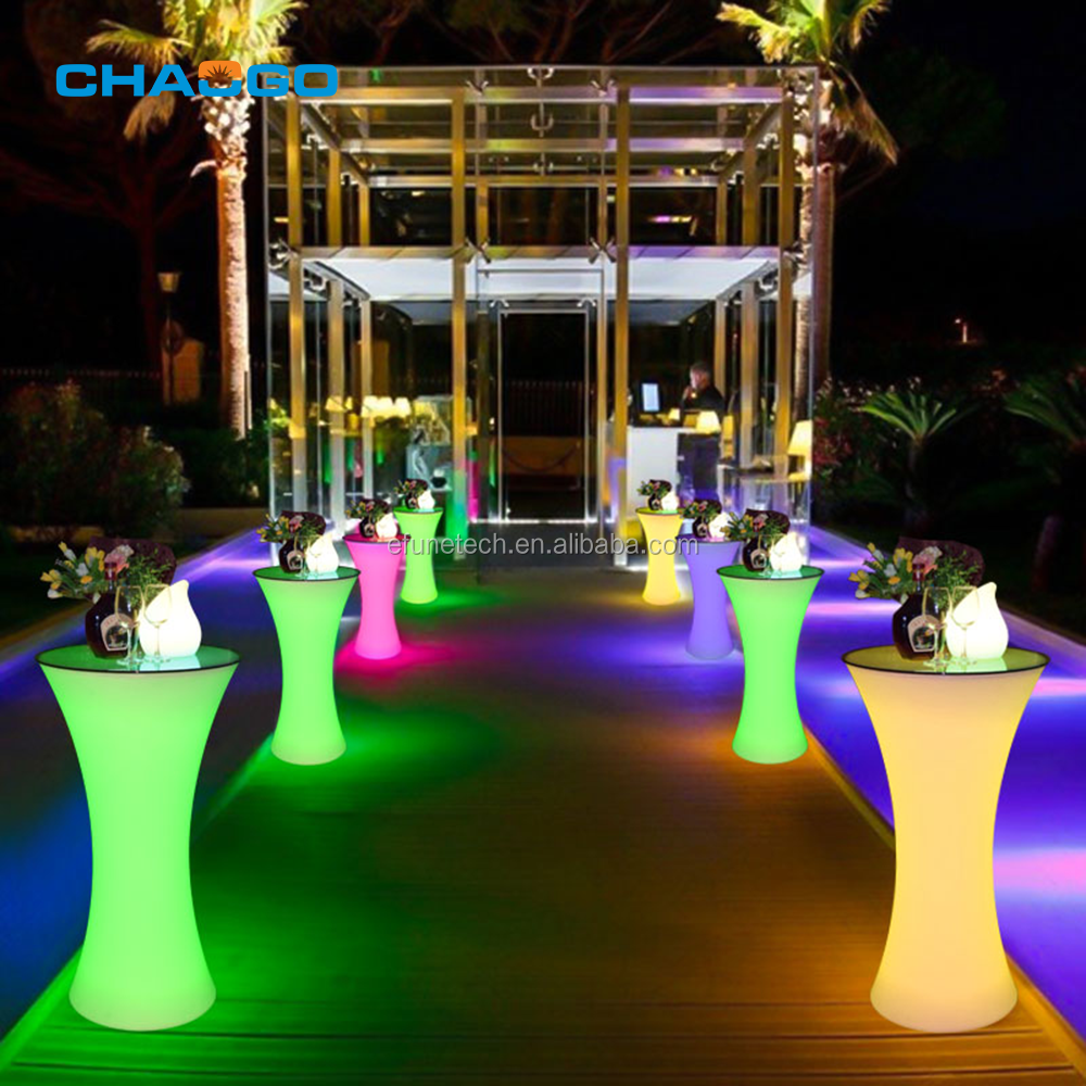remote control 16 colors lighted up tables portable led belly bars outdoor wedding bar table