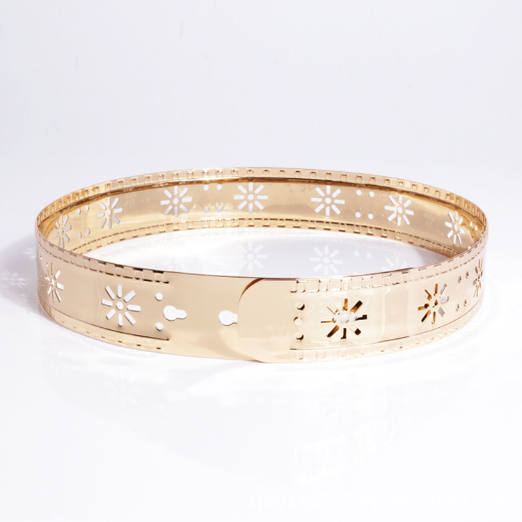 KDA8924 trendy fashion gold metal waist belt