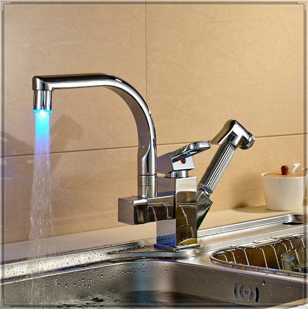 Led Pull Out Kitchen Tap