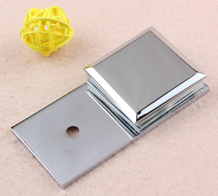 45 45 Polished Chrome U Shape Square Brass Glass Clamp
