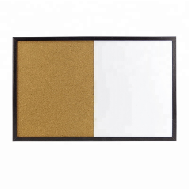 Customized 2 Materials Composite Magnetic Whiteboard Cork Bulletin Board with Wooden/Aluminum Frame - Yola WhiteBoard   szyola.net
