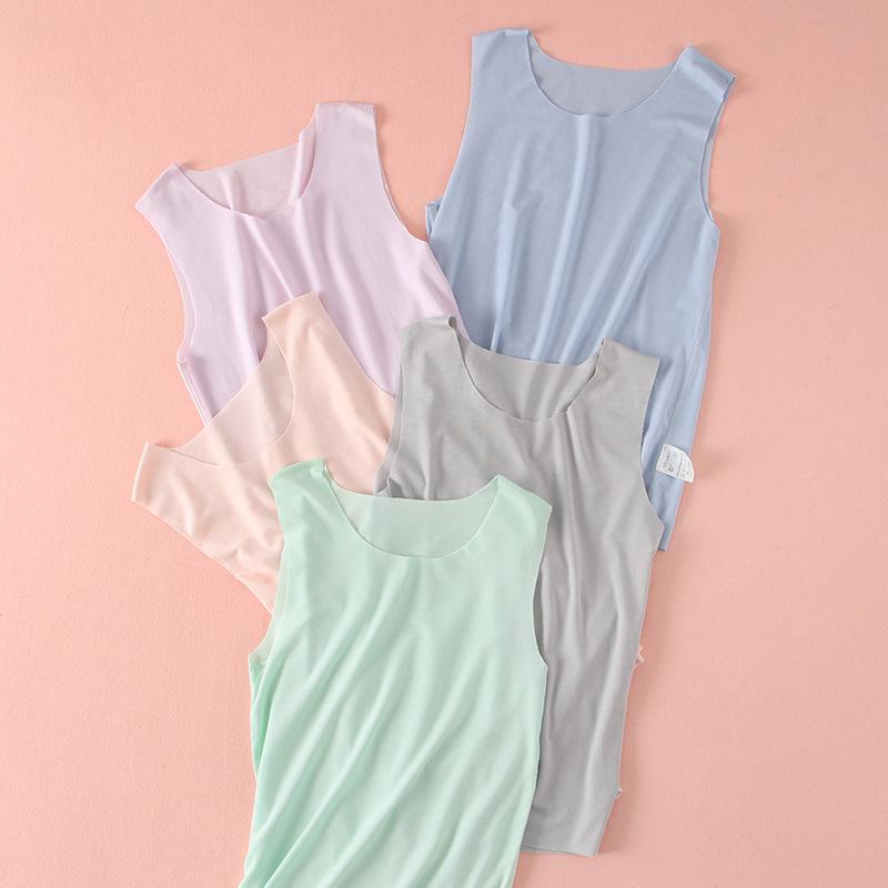 wholesale kids thin modal waistcoat baby girls boys summer sleeveless vest