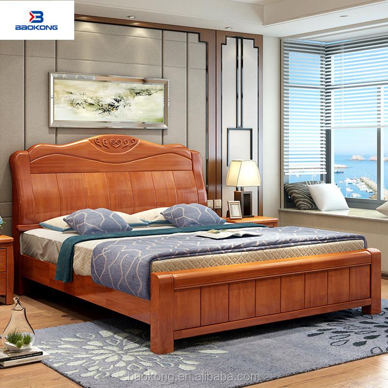 High Back Bed Design Solid Wood Bedroom Furniture Buy Latest Bed Designs Wooden Bed Designs Indian Bed Designs Product On Alibaba Com