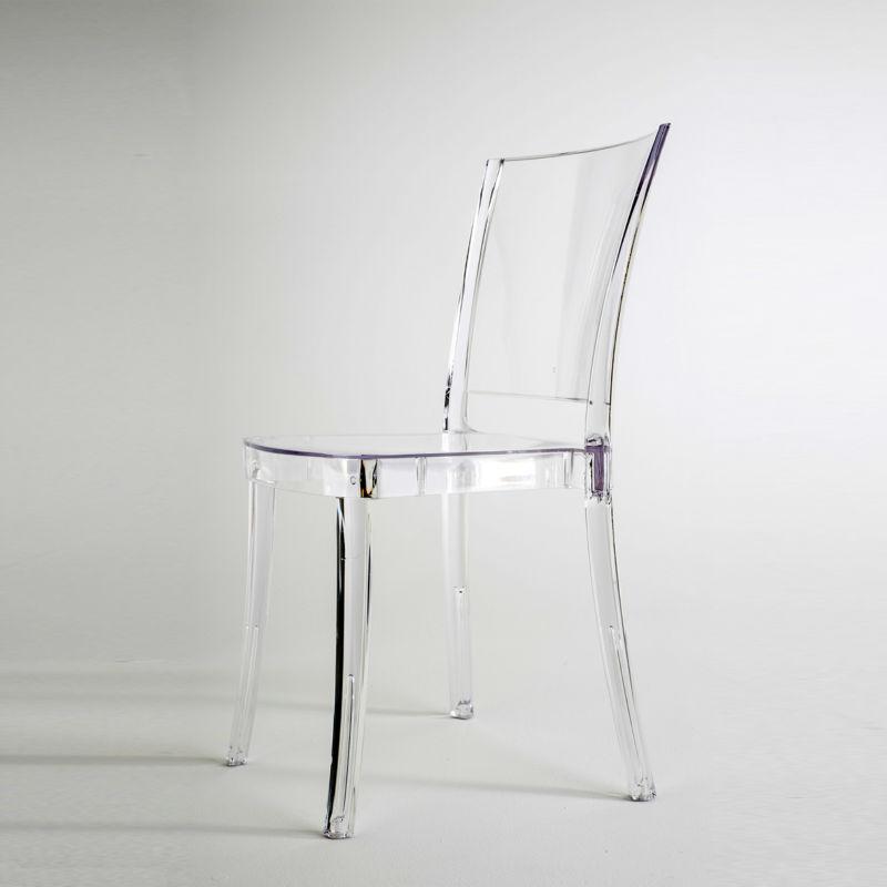 chaise transparente en polycarbonate lucienne neutre. Black Bedroom Furniture Sets. Home Design Ideas