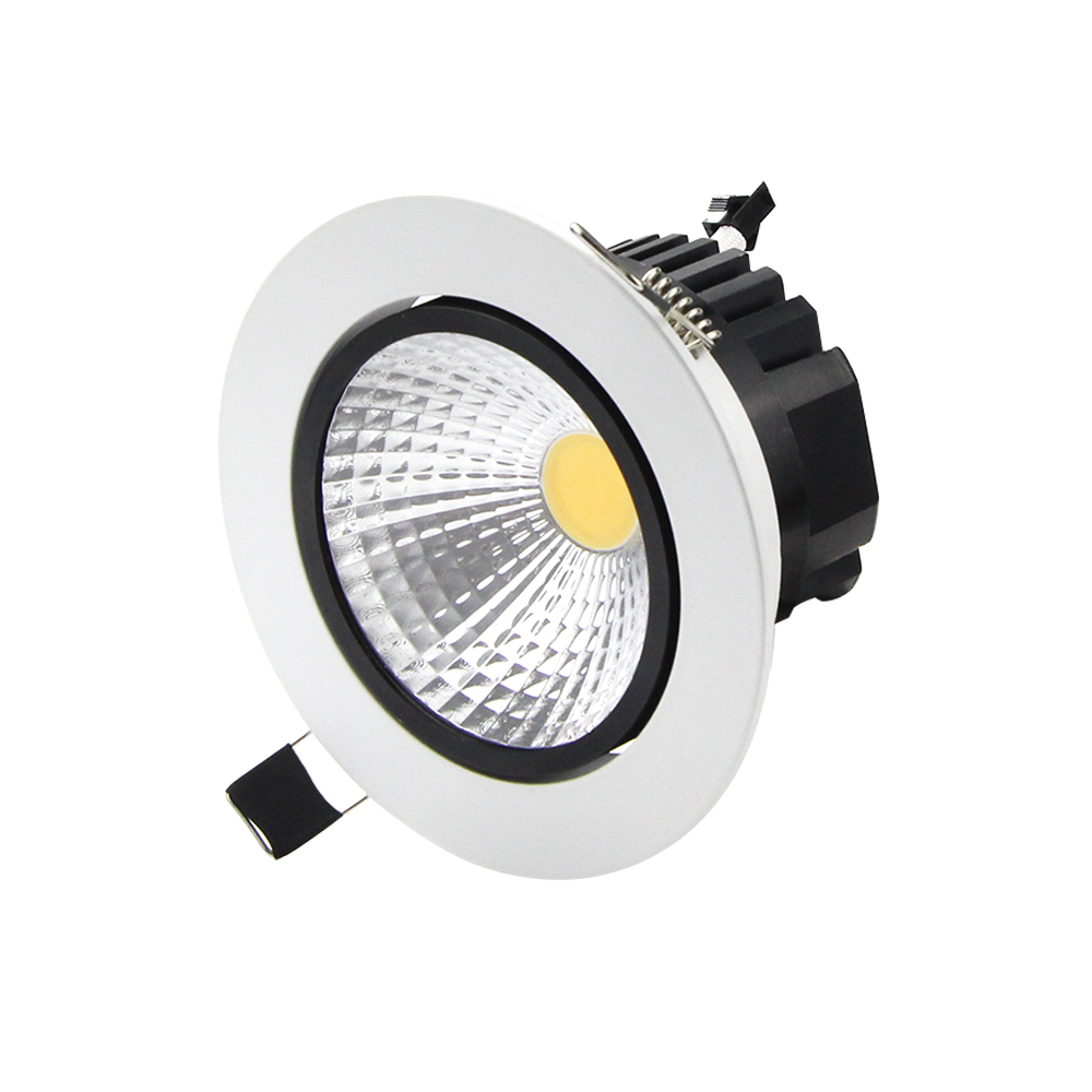 free shipping recessed led cob downlight 5w 7w 9w 12w led cob spot light led cob ceiling lamp ac. Black Bedroom Furniture Sets. Home Design Ideas