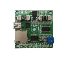 4 Buttons Triggered MP3 Player Board MP3 Sound Module with on-board 10Watts Amplifier