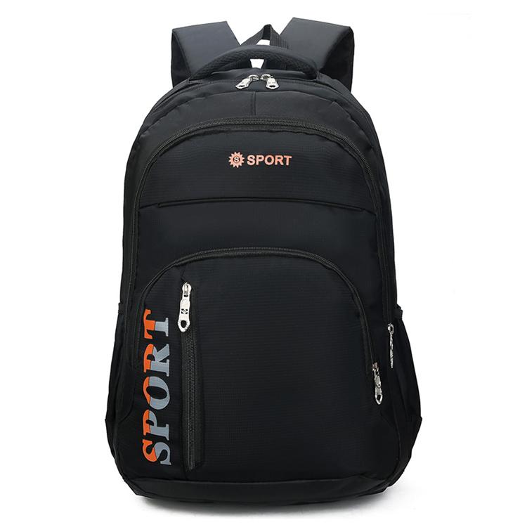 new hot sales travel black custom polyester fashion school backpack China