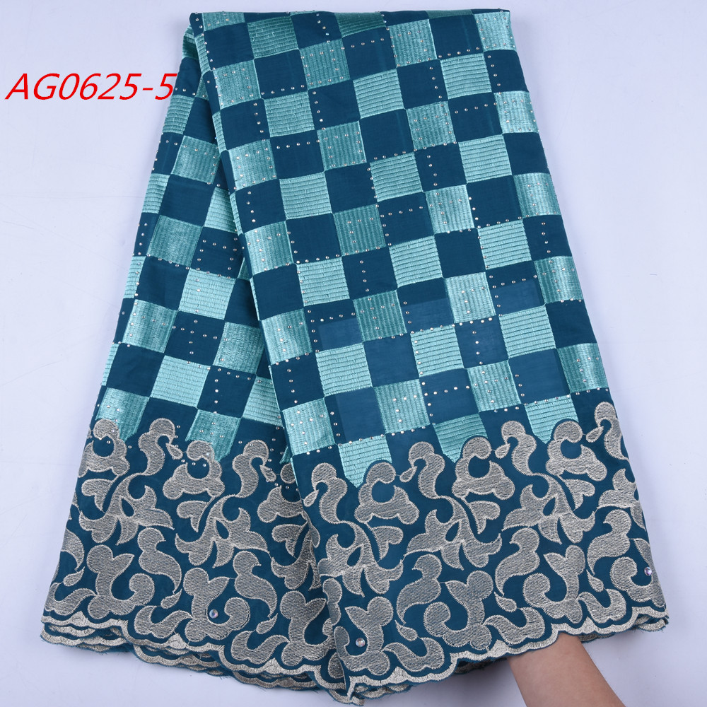 1652 African Voile Lace Fabric 2019 Embroidery Polish Lace Fabric