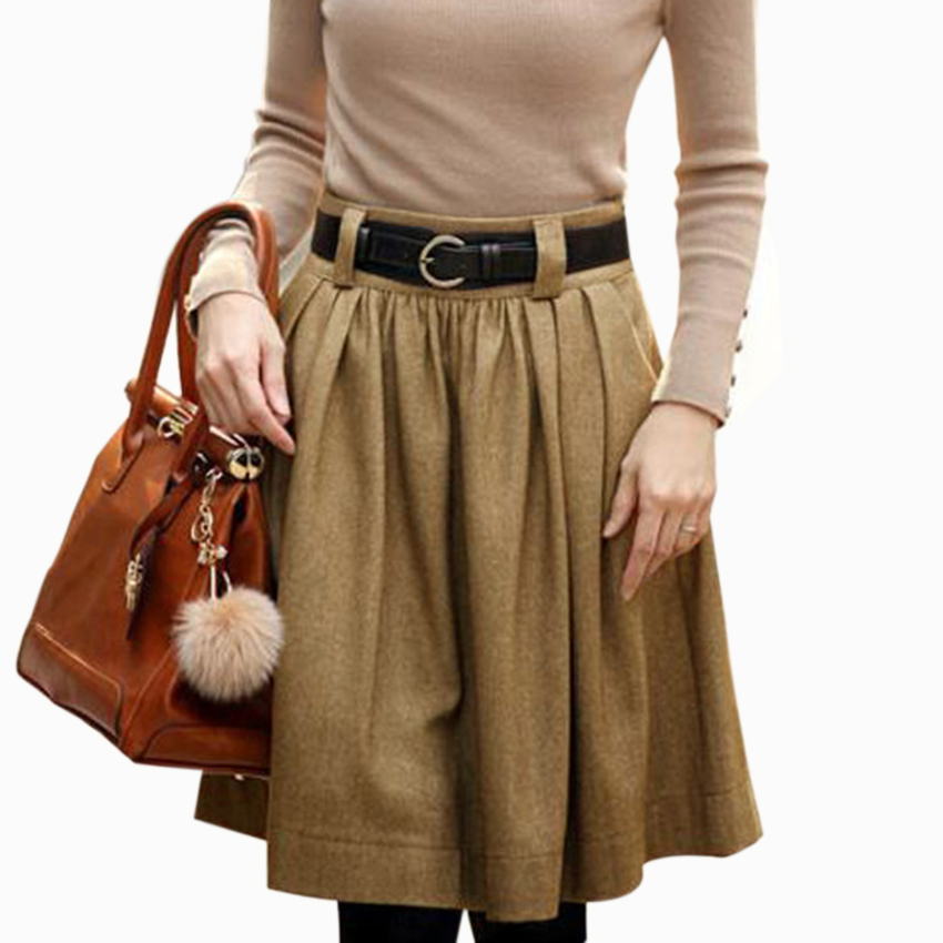 Plus Size Wool Skirt 78