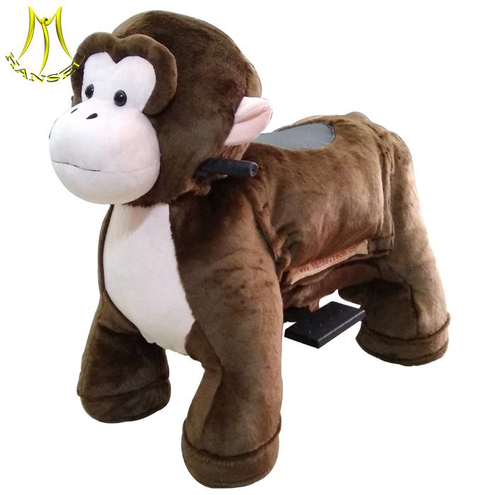 Hansel plush animal toy ride on monkey