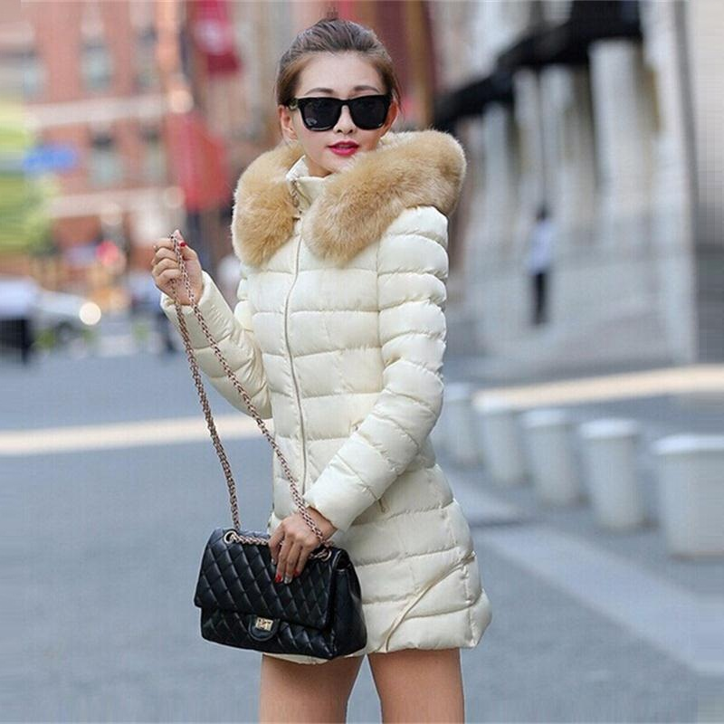 31d6dc991a Hot! Fashion Women Clothes Winter Coat Raccoon Fur Collar Warm Coats Woman  Long Outerwear Thicken Parkas Down Jacket For