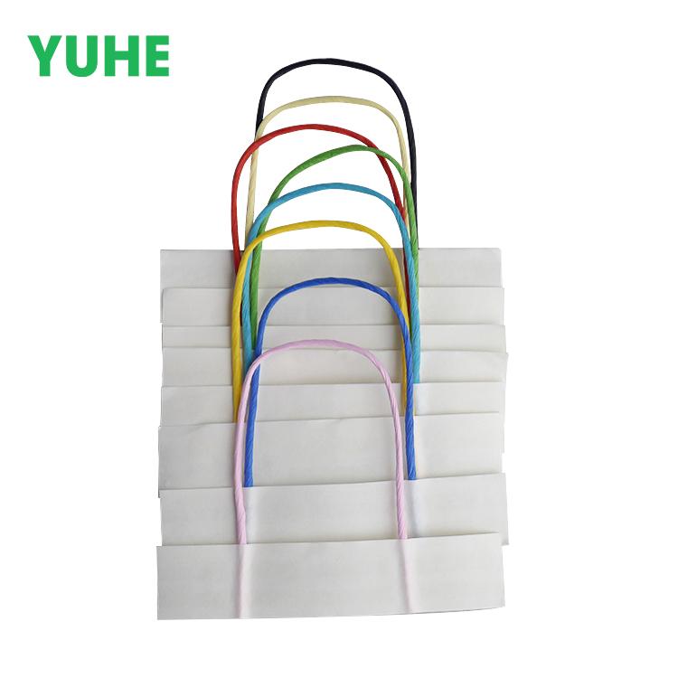 Ручка из крафт-бумаги для подарочных пакетов разных цветов