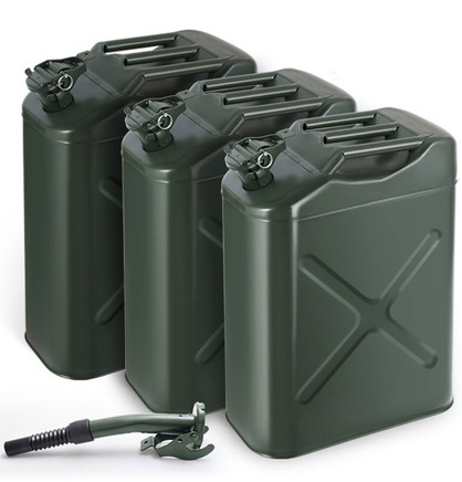 JERRY CAN GAS CONTAINER STEEL US Army Green Military Style 30 Liter 8 Gallon NEW