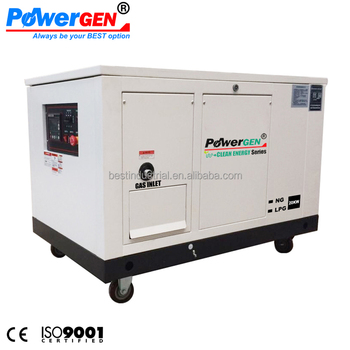 Clean Energy!!! POWERGEN Water Cooled Silent Type 25KVA NG Natural Gas/LPG Liquid Propane Generator 20KW