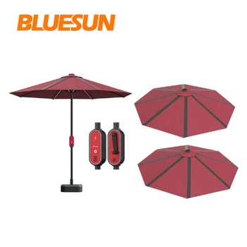 New Energy Products Solar Patio Umbrella Parts with Mono Solar Panel and Battery Used in public facilities, matches, games