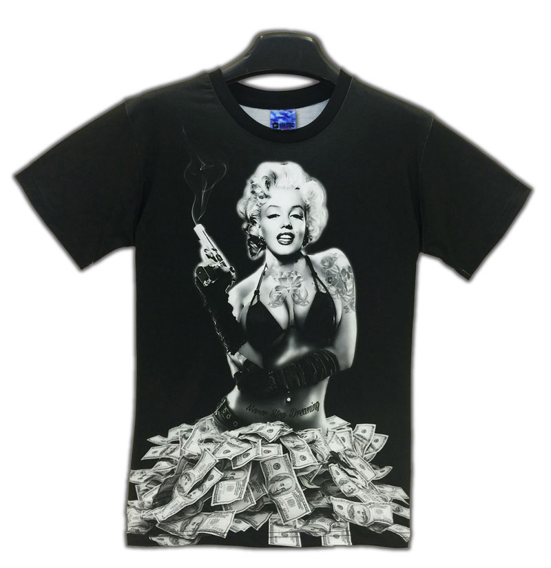5f9853114d4d Wholesale Newest Styles Vogue T Shirts Sexy Marilyn Monroe T Shirt ...