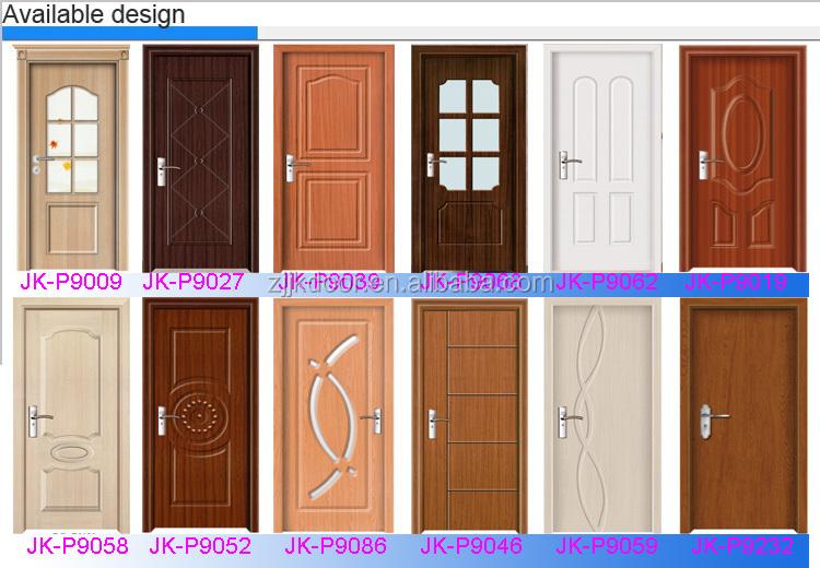 China wholesale market quality pvc door panel/wood glass door design
