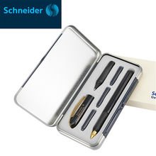 Немецкая ручка Шнайдера 0,5 мм, двусторонняя ручка для подписи, роскошные чернила для гелевой ручки, картридж, ручка для деловых канцелярских...(Китай)