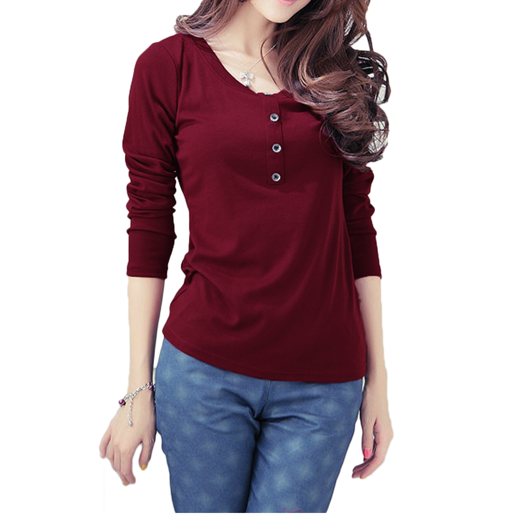 Women's Long Sleeve Tops When you don't have time to fuss with your fashion, you can always turn to your trusty collection of long-sleeve tops. Perfect with jeans, skirts, underneath overalls, over a tank or snuggled up inside a denim jacket.