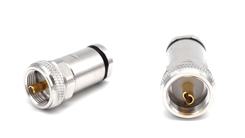 UHF PL259 разъем Штекерный зажим для LMR400 RG8 rf Кабельный разъем