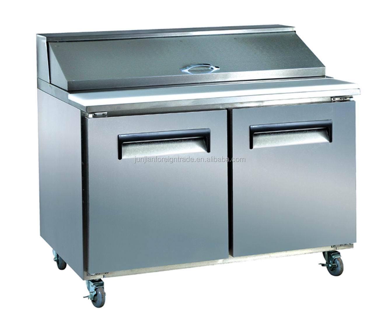 2015 Sales Well Glass Door Freezer Work Table Refrigerator