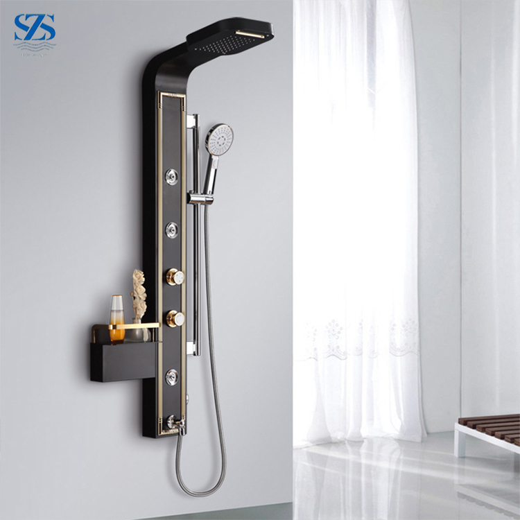 factory wholesale High Volume Thermostatic Shower Panel With LED Lights