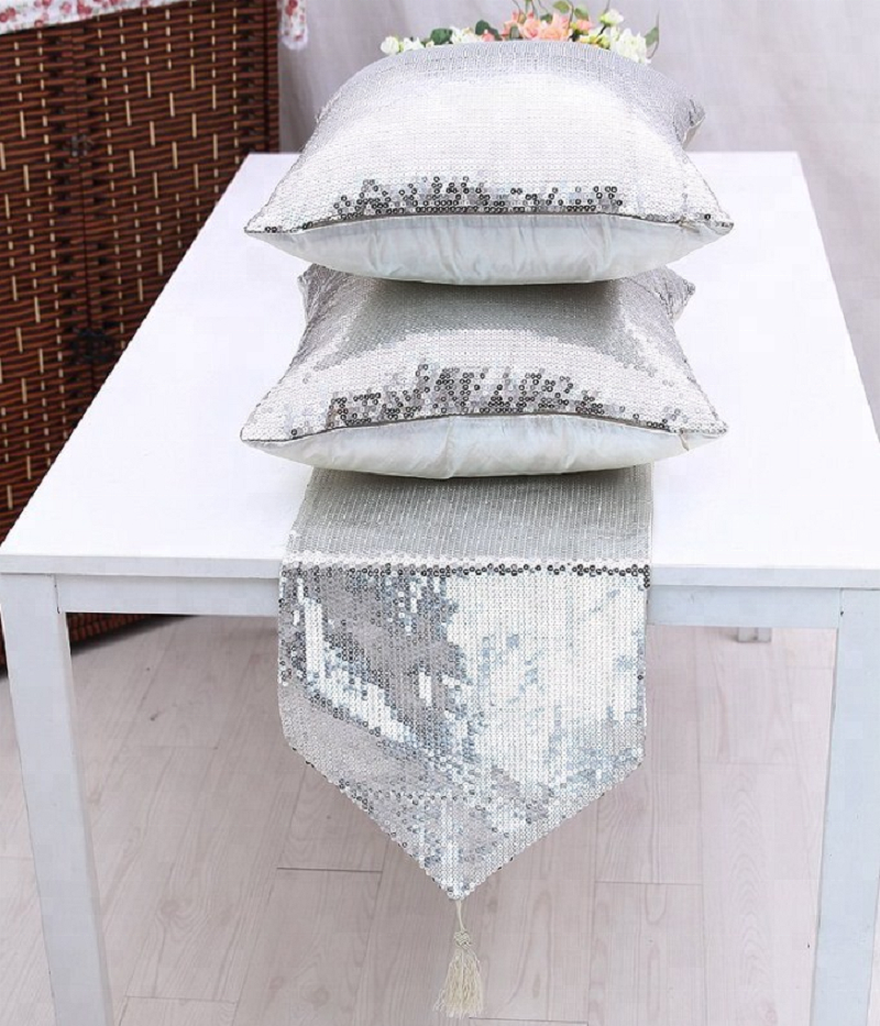 Wholesale Wedding Banquet Decorative Sequin Table Runner Cushion Covers Table Mat For Round Tables Buy Sequin Table Runners Wedding Table Runner Glitter Table Runner Product On Alibaba Com