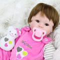 40cm Silicone reborn baby doll toys for girl lifelike reborn babies play house toy kids child