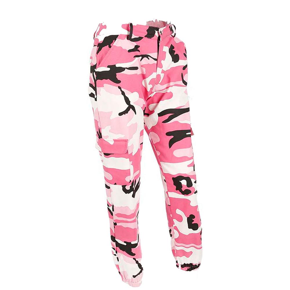 Mode 2019 Pants Pantalons De Sports Camo Cargo Outdoor Jeans Décontractés Hot Camouflage Women AL354Rj