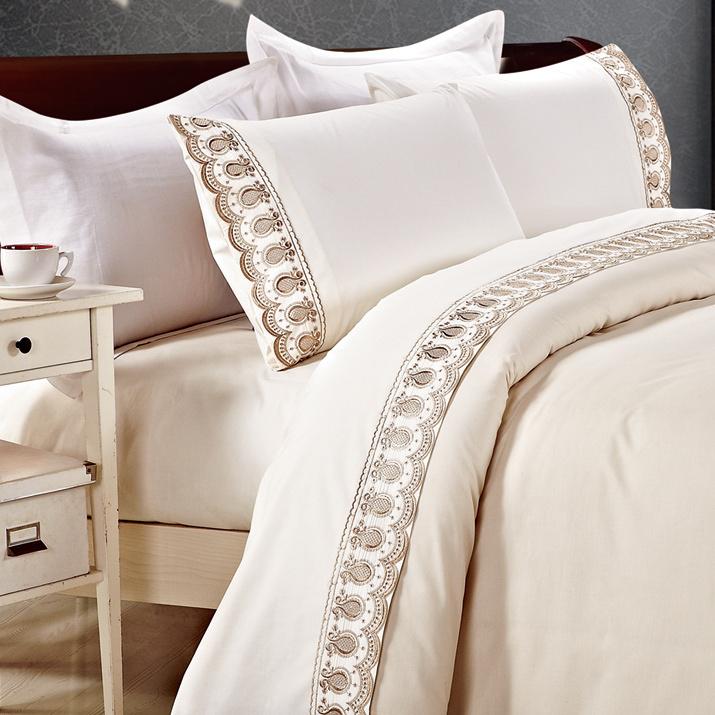 kosmos 4 pcs housse de couette en dentelle literie polycoton ensemble de literie capa de edredon. Black Bedroom Furniture Sets. Home Design Ideas