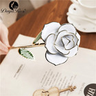 24K Gold Plated Rose Real Rose Dipped In Gold White Rose