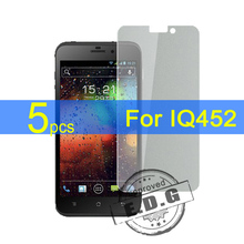 5pcs Ultra Clear LCD Screen Protector Film Cover For iQ452 Quad EGO Vision 1 Protective Film  +  cloth