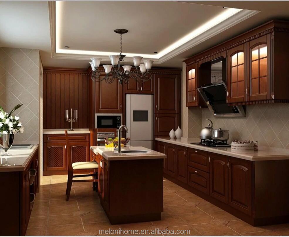 Mdf Pvc Furniture Modular Kitchen Designs For Small Kitchens,Oak ...