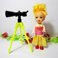 2pcs lot Astronomical telescope Kelly doll Mini Toy for Barbie doll Accessories Girls Gifts Accessories Fits