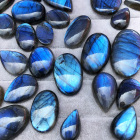 Labradorite Gemstone Labradorite Gemstone Natural Labradorite Stones Cabochon Dark Blue Labradorite Gemstone For Jewelry Making