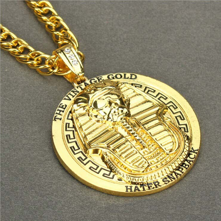 New Last Kings PHARAOH Sliver/Gold Pendant Iced Out ...