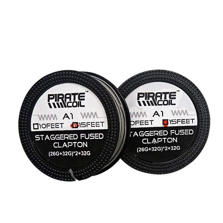 best wire for vape picture Staggered Fused Clapton wire vape coil spool for RDA RTA large vape