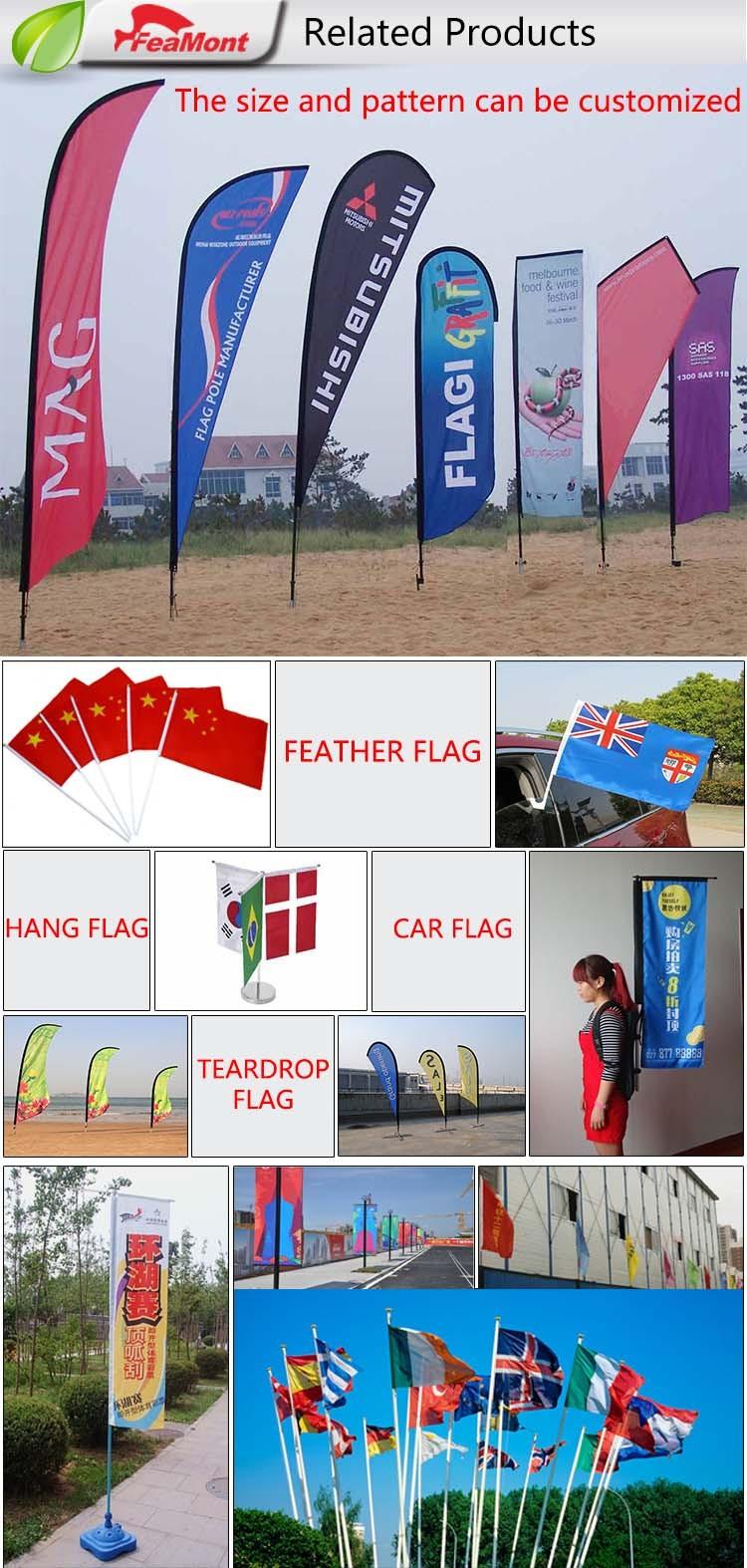 Print Advertising Beach Teardrop Flags