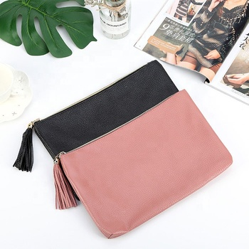 nude pink make up brush leather clutch purse white bags for packaging