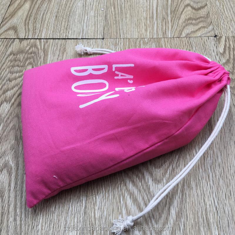 Розовый Хлопковый мешок на шнурке для свечей