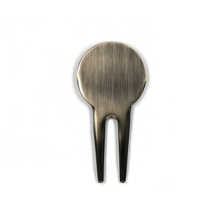 Magnetic Golf Ball Marker In Soft Enamel With Repairer Or Forks As Golf Marker