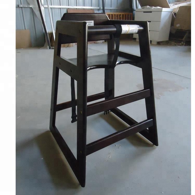 Высокий стул из массива дерева, обеденный стул для малышей