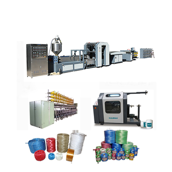 Tearing Film pp pe twine rope making machine/ agriculture packing baler production line