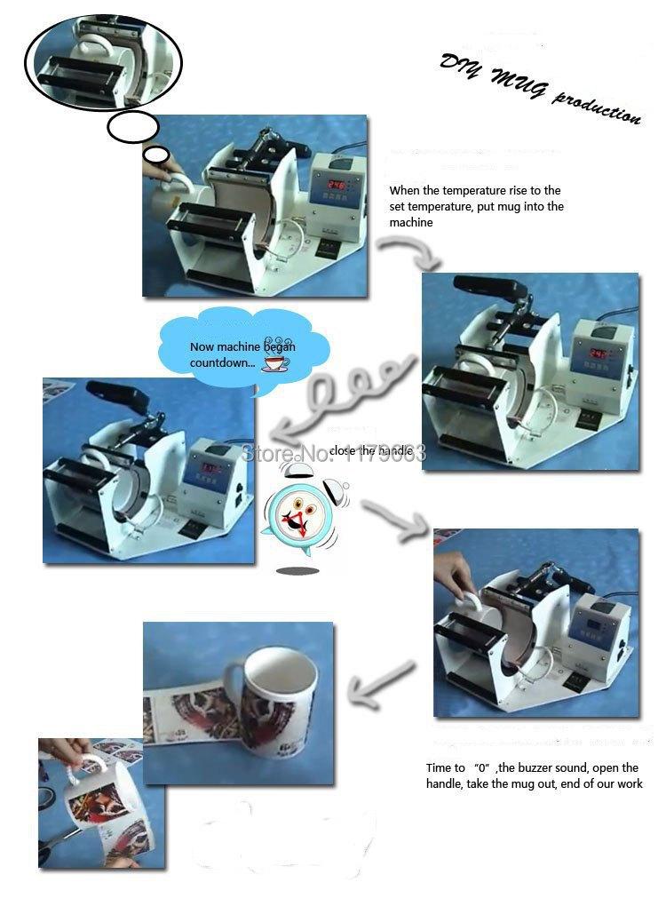 Custom Mug Hot Transfer Printing Machine Sublimation Press