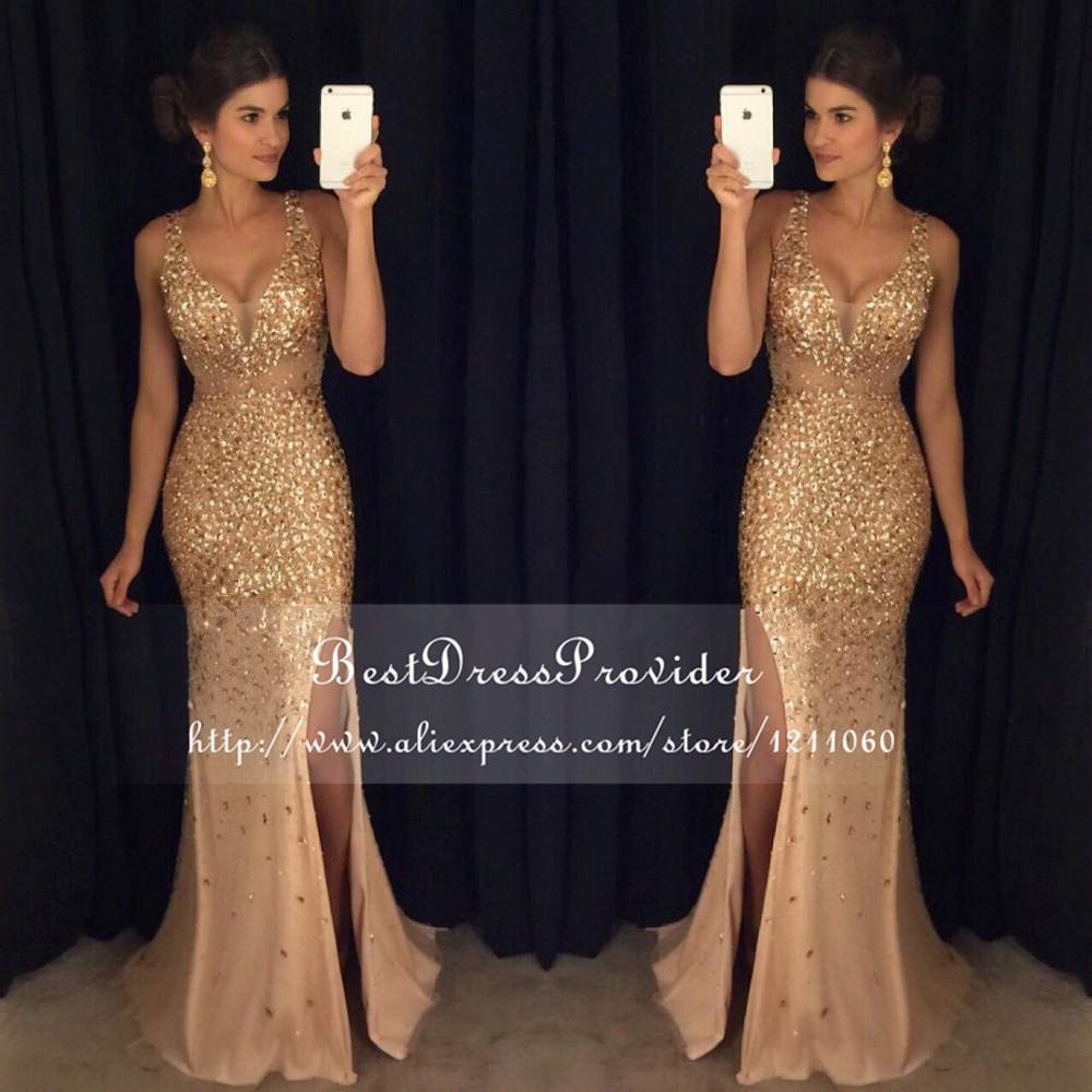 Длинные блестящие платья в пол