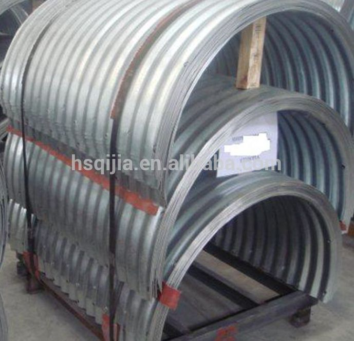 Half Round Corrugated Steel Pipe Culverts For Sale View Half Round Corrugated Steel Culvert Product Details From Hengshui Qijia Engineering Materials Co Ltd On Alibaba Com