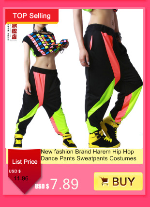 1ea4cffd8 New Fashion Women Pants Ds performance wear jazz dance costumes hiphop  badge powder hole casual trousers