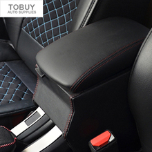 High quality special leather vehicle central armrest box ,refit storage box for Peugeot 2008